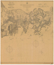 Blackstone Rocks to South End 1907 - Old Map Nautical Chart AC Harbors 261 - Connecticut