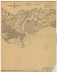 Milford to Bridgeport 1898 - Old Map Nautical Chart AC Harbors 264 - Connecticut