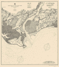 Milford to Bridgeport 1907 - Old Map Nautical Chart AC Harbors 264 - Connecticut