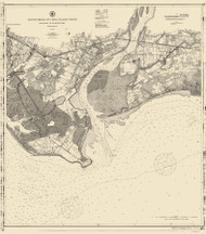 Milford to Bridgeport 1911 - Old Map Nautical Chart AC Harbors 264 - Connecticut