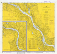Deep River to Bodkin Rock 1972 - Old Map Nautical Chart AC Harbors 266 - Connecticut