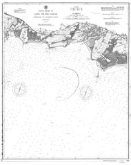 Fairfield to George's Rock 1895 BW - Old Map Nautical Chart AC Harbors 266 - Connecticut