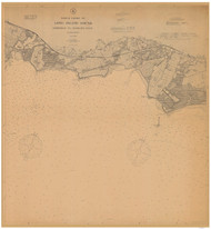 Fairfield to George's Rock 1908 - Old Map Nautical Chart AC Harbors 266 - Connecticut