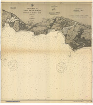 Fairfield to George's Rock 1910 - Old Map Nautical Chart AC Harbors 266 - Connecticut