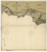 Fairfield to George's Rock 1911 - Old Map Nautical Chart AC Harbors 266 - Connecticut