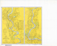 Bodkin Rock to Hartford 1968 - Old Map Nautical Chart AC Harbors 267 - Connecticut