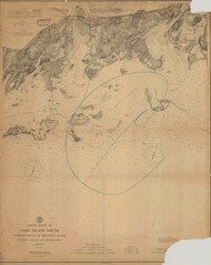 George's Rock to Sheffield Island 1898 B - Old Map Nautical Chart AC Harbors 267 - Connecticut