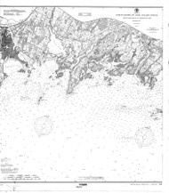 Sheffield Island to Westcott Cove 1900 - Old Map Nautical Chart AC Harbors 268 - Connecticut