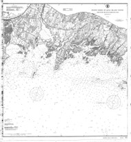 Sheffield Island to Westcott Cove 1911 - Old Map Nautical Chart AC Harbors 268 - Connecticut