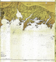 Sheffield Island to Westcott Cove 1915 A - Old Map Nautical Chart AC Harbors 268 - Connecticut