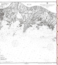 Sheffield Island to Westcott Cove 1917 A - Old Map Nautical Chart AC Harbors 268 - Connecticut