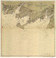Stamford Harbor to Little Captain Island 1914 B - Old Map Nautical Chart AC Harbors 269 - Connecticut