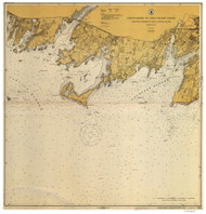 Stamford Harbor to Little Captain Island 1915 - Old Map Nautical Chart AC Harbors 269 - Connecticut