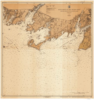 Stamford Harbor to Little Captain Island 1917 - Old Map Nautical Chart AC Harbors 269 - Connecticut