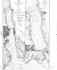 New London Harbor and Vicinity 1906 - Old Map Nautical Chart AC Harbors 293 - Connecticut