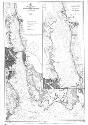 New London Harbor and Vicinity 1915 - Old Map Nautical Chart AC Harbors 293 - Connecticut