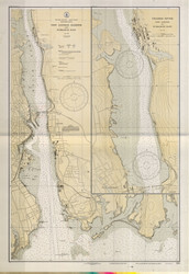 New London Harbor and Vicinity 1932 - Old Map Nautical Chart AC Harbors 293 - Connecticut