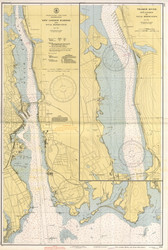 New London Harbor and Vicinity 1942 - Old Map Nautical Chart AC Harbors 293 - Connecticut