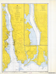 New London Harbor and Vicinity 1969 - Old Map Nautical Chart AC Harbors 293 - Connecticut