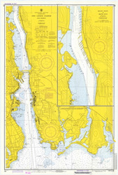 New London Harbor and Vicinity 1973 - Old Map Nautical Chart AC Harbors 293 - Connecticut