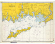Fishers Island Sound 1966 - Old Map Nautical Chart AC Harbors 358 - Connecticut