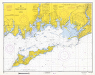 Fishers Island Sound 1968 - Old Map Nautical Chart AC Harbors 358 - Connecticut