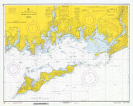 Fishers Island Sound 1971 - Old Map Nautical Chart AC Harbors 358 - Connecticut