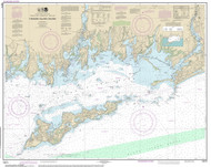Fishers Island Sound 2014 - Old Map Nautical Chart AC Harbors 13214 - Connecticut