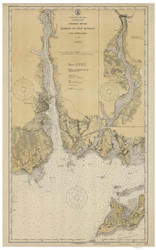 Harbor of New London and Approaches 1924 - Old Map Nautical Chart AC Harbors 359 - Connecticut