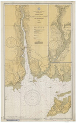 Harbor of New London and Approaches 1933 - Old Map Nautical Chart AC Harbors 359 - Connecticut