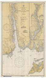 Harbor of New London and Approaches 1935 - Old Map Nautical Chart AC Harbors 359 - Connecticut