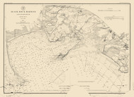 Black Rock Harbor 1888 Color Added - Old Map Nautical Chart AC Harbors 363 - Connecticut
