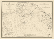 Black Rock Harbor 1884 Color Added - Old Map Nautical Chart AC Harbors 363 - Connecticut