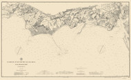 Black Rock Harbor 1889 Color Added - Old Map Nautical Chart AC Harbors 363 - Connecticut
