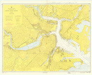 Boston Inner Harbor 1964 - Old Map Nautical Chart AC Harbors 248 - Massachusetts