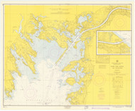 Cape Cod Canal and Approaches 1964 Old Map Nautical Chart AC Harbors 2 251 - Massachusetts