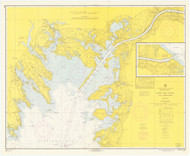 Cape Cod Canal and Approaches 1966 Old Map Nautical Chart AC Harbors 2 251 - Massachusetts