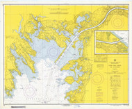 Cape Cod Canal and Approaches 1969 Old Map Nautical Chart AC Harbors 2 251 - Massachusetts
