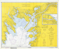 Cape Cod Canal and Approaches 1970 Old Map Nautical Chart AC Harbors 2 251 - Massachusetts