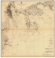 New Bedford Harbor and Approaches 1900 Old Map Nautical Chart AC Harbors 2 252 - Massachusetts