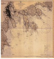 New Bedford Harbor and Approaches 1930 Old Map Nautical Chart AC Harbors 2 252 - Massachusetts