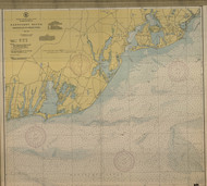 Nantucket Sound Osterville to Green Pond 1943 A Old Map Nautical Chart AC Harbors 2 259 - Massachusetts