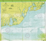 Nantucket Sound Osterville to Green Pond 1943 B Old Map Nautical Chart AC Harbors 2 259 - Massachusetts