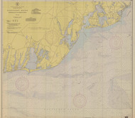 Nantucket Sound Osterville to Green Pond 1943 C Old Map Nautical Chart AC Harbors 2 259 - Massachusetts