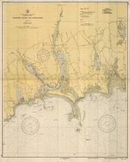 Westport River and Approaches 1937 A Old Map Nautical Chart AC Harbors 2 237 - Massachusetts