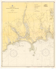 Westport River and Approaches 1937 B Old Map Nautical Chart AC Harbors 2 237 - Massachusetts