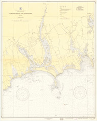 Westport River and Approaches 1938 Old Map Nautical Chart AC Harbors 2 237 - Massachusetts