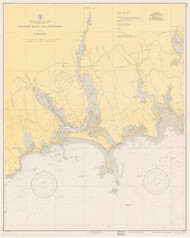 Westport River and Approaches 1940 Old Map Nautical Chart AC Harbors 2 237 - Massachusetts