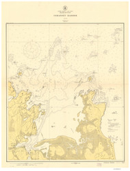 Cohasset Harbor 1915b - Old Map Nautical Chart AC Harbors 1 242 - Massachusetts