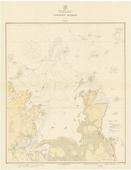Cohasset Harbor 1926b - Old Map Nautical Chart AC Harbors 1 242 - Massachusetts